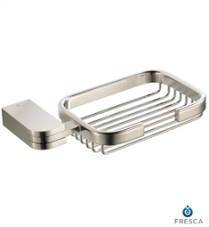 Fresca Solido Soap Basket in Brushed Nickel