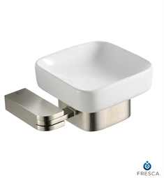 Fresca Solido Soap Dish in Brushed Nickel