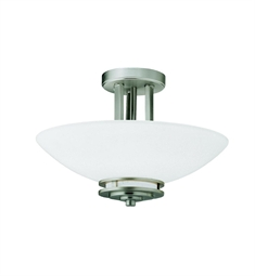 Kichler Hendrik Collection Semi Flush 2 Light in Brushed Nickel
