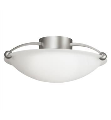 Kichler 8406NI Swiss Passport 3 Bulb Incandescent Semi-Flush Mount Ceiling Light in Brushed Nickel