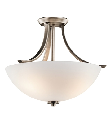 Kichler 42563BPT Granby Collection Semi Flush 3 Light in Brushed Pewter