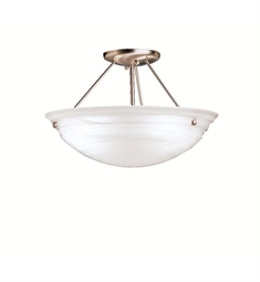 Kichler Cove Molding Top Glass Collection Semi Flush 3 Light in Brushed Nickel