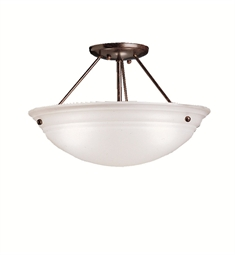 Kichler Cove Molding Top Glass Collection Semi Flush 3 Light in Tannery Bronze