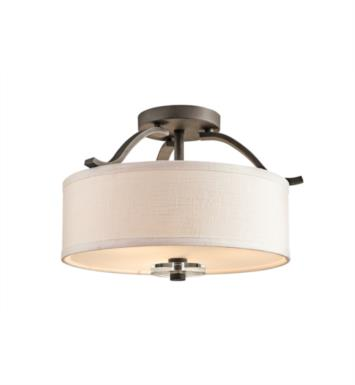 Kichler 42485OZ Leighton 3 Bulb Incandescent Semi-Flush Mount Ceiling Light in Olde Bronze