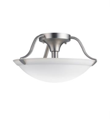Kichler 3620NI 2 Bulb Incandescent Semi-Flush Mount Ceiling Light in Brushed Nickel