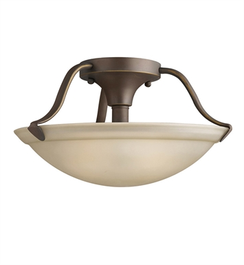 Kichler 3620OZ Semi Flush Mount 2 Light in Olde Bronze