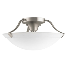 Kichler Semi Flush Mount 3 Light in Brushed Nickel