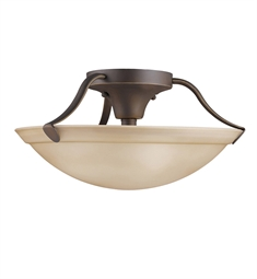 Kichler Semi Flush Mount 3 Light in Olde Bronze