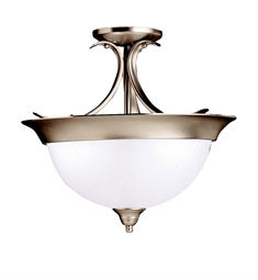 Kichler Dover Collection Semi Flush Mount 3 Light in Brushed Nickel