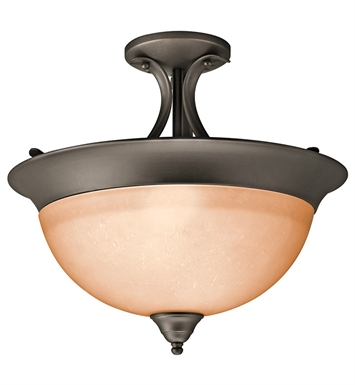 Kichler 3623OZ Dover Collection Semi Flush Mount 3 Light in Olde Bronze