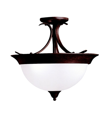 Kichler 3623TZ Dover Collection Semi Flush Mount 3 Light in Tannery Bronze