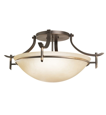Kichler 3606OZ Olympia Collection Semi Flush 3 Light in Olde Bronze