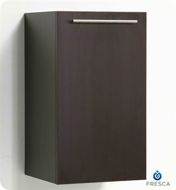 Fresca FST8006WG Wenge Bathroom Linen Cabinet with Two Inner Shelves