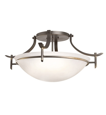 Kichler 3606OZW Olympia Collection Semi Flush 3 Light in Olde Bronze