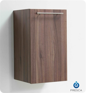 Fresca FST8006WL Light Walnut Bathroom Linen Cabinet with Two Inner Shelves
