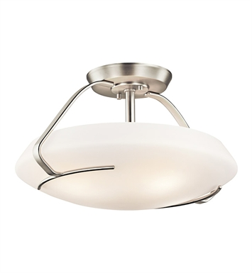 Kichler 42063NI Semi-Flush 4 Light in Brushed Nickel
