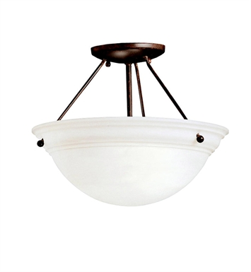 Kichler 3718TZ Cove Molding Top Glass Collection Semi Flush 2 Light in Tannery Bronze