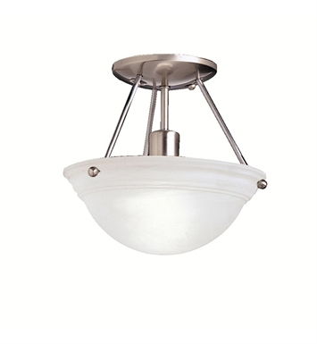 Kichler 3121NI Cove Molding Top Glass Collection Semi Flush 1 Light in Brushed Nickel