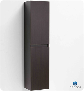 Fresca FST8040WG Wenge Bathroom Linen Side Cabinet with Two Cabinets