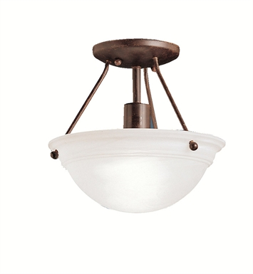 Kichler 3121TZ Cove Molding Top Glass Collection Semi Flush 1 Light in Tannery Bronze