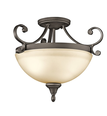 Kichler Monroe Collection Semi Flush 2 Light in Olde Bronze
