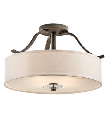 Kichler 42486OZ Leighton 4 Bulb Incandescent Semi-Flush Mount Ceiling Light in Olde Bronze