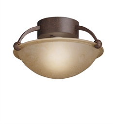 Kichler Semi Flush 1 Light in Tannery Bronze