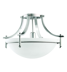 Kichler Olympia Collection Semi Flush 1 Light in Antique Pewter