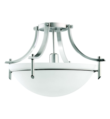 Kichler 3678AP Olympia Collection Semi Flush 1 Light in Antique Pewter