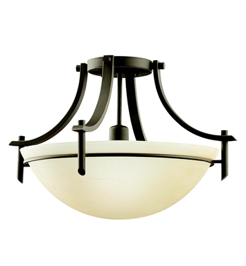 Kichler 3678OZ Olympia Collection Semi Flush 1 Light in Olde Bronze