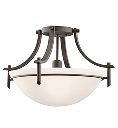 Kichler Olympia Collection Semi Flush 1 Light in Olde Bronze