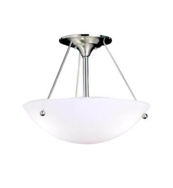 Kichler 3752NI Family Space 3 Bulb Incandescent Semi-Flush Mount Ceiling Light in Brushed Nickel