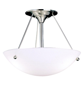 Kichler 3752NI Family Space Collection Semi Flush 3 Light in Brushed Nickel