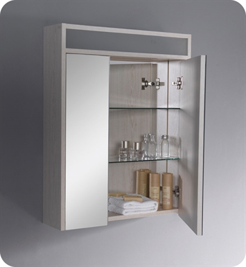 Fresca FMC3001 Light Oak Bathroom Medicine Cabinet with Three Level Shelving