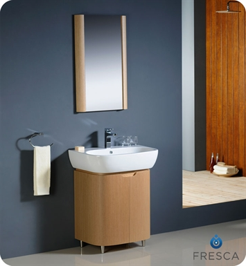 Fresca FVN3025LO Andria Modern Bathroom Vanity in Light Oak