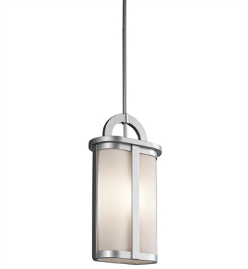 Kichler 49472PL Outdoor Pendant 1 Light in Platinum