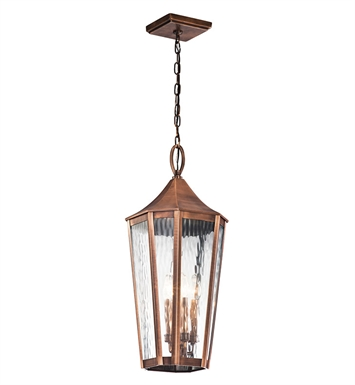 Kichler 49517ACO Outdoor Pendant 4 Light in Antique Copper