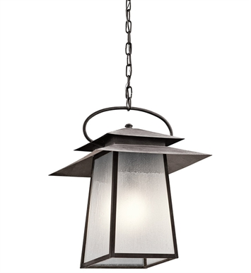 Kichler 49535WZC Outdoor Pendant 1 Light in Weathered Zinc
