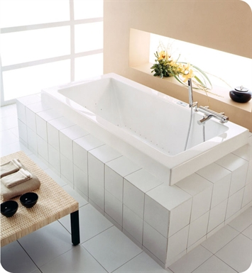 "Neptune ZEN3260C Zen 60"" x 32"" Customizable Rectangular Bathroom Tub With Jet Mode: Whirlpool + Mass-Air Jets"
