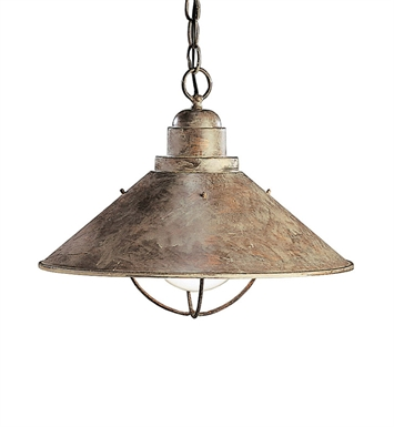 Kichler 2713OB Outdoor Pendant 1 Light in Olde Brick