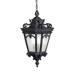 Kichler Outdoor Hanging Pendant 3 Light in Textured Black