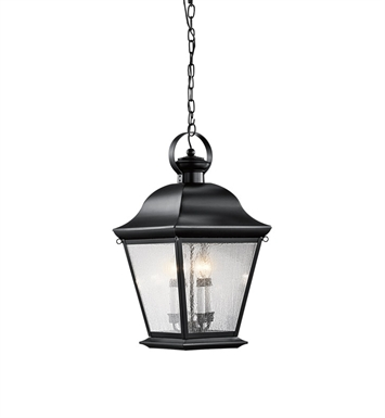 Kichler 9804BK Outdoor Hanging Pendant 4 Light in Black