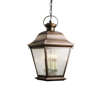 Kichler Outdoor Hanging Pendant 4 Light in Olde Bronze