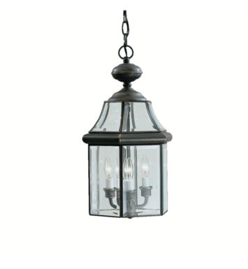 Kichler 9885OZ Embassy Row 3 Light Incandescent Outdoor Hanging Pendant in Olde Bronze