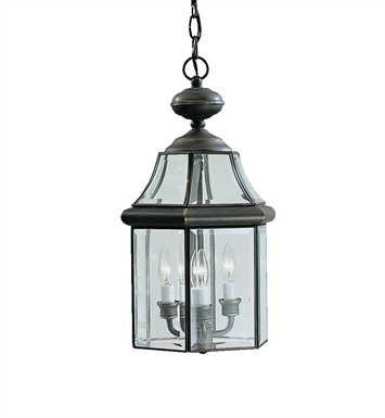 Kichler 9885OZ Outdoor Pendant 3 Light in Olde Bronze