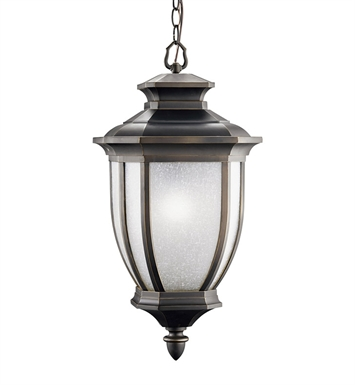 Kichler 9843RZ Outdoor Hanging Pendant 1 Light in Rubbed Bronze