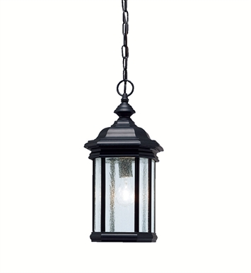 Kichler 9810BK Outdoor Hanging Pendant 1 Light in Black