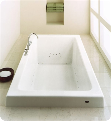 "Neptune ZEN3272C Zen 72"" x 32"" Customizable Rectangular Bathroom Tub With Jet Mode: Whirlpool + Mass-Air Jets"