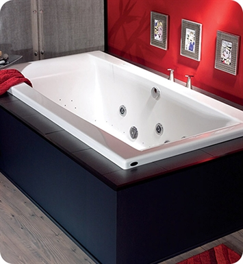 "Neptune JA3872C Jade 38"" Rectangular Customizable Bathroom Tub With Jet Mode: Whirlpool + Mass-Air Jets"
