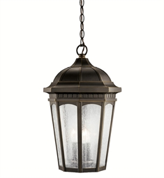 Kichler Outdoor Hanging Pendant 3 Light in Rubbed Bronze